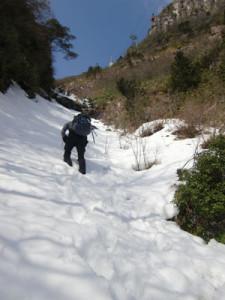 雪のルンゼ
