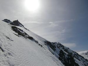 頂上に向かう途中